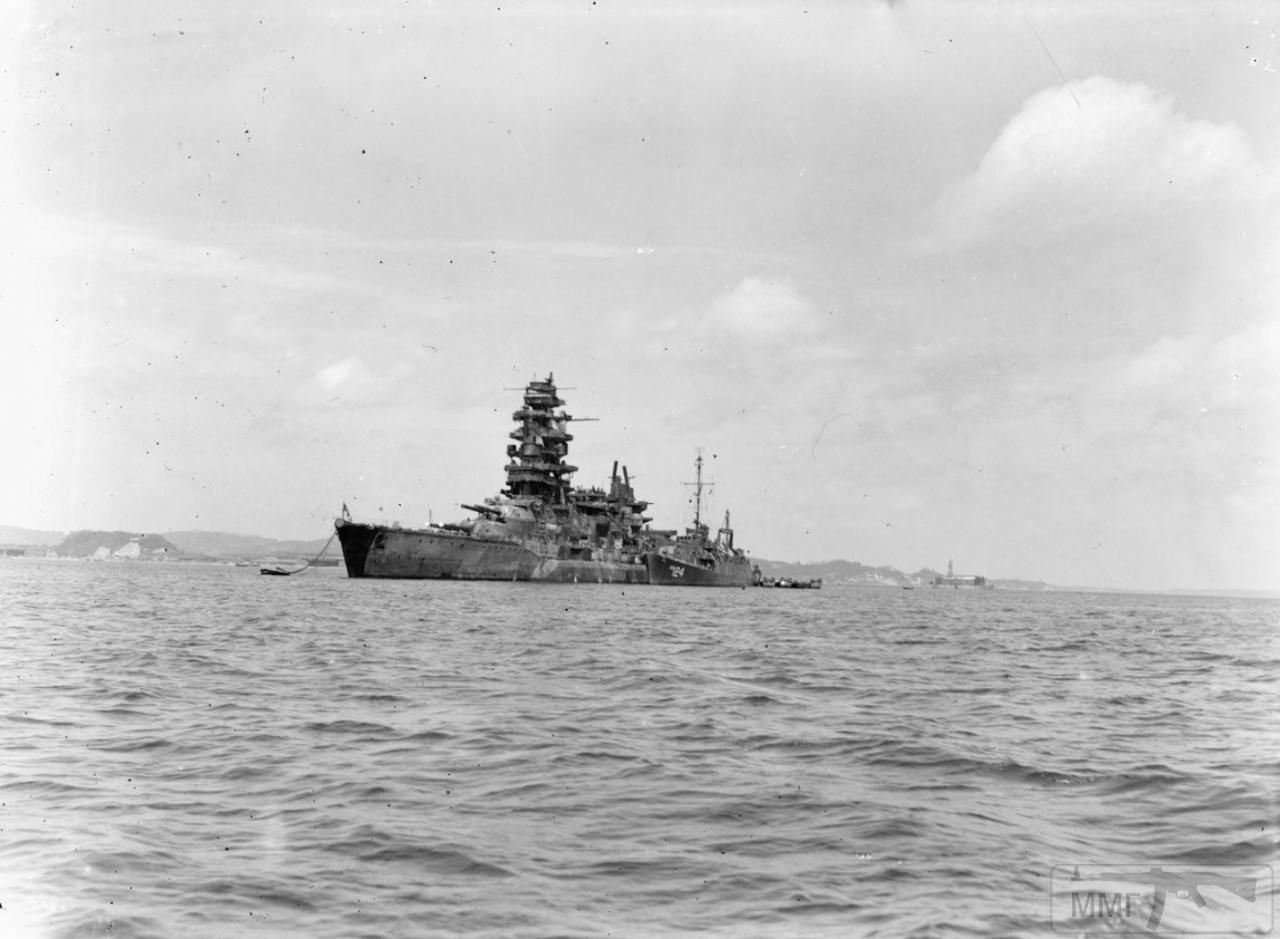 34758 - IJN Nagato в Токийском заливе, 2 сентября 1945 г.