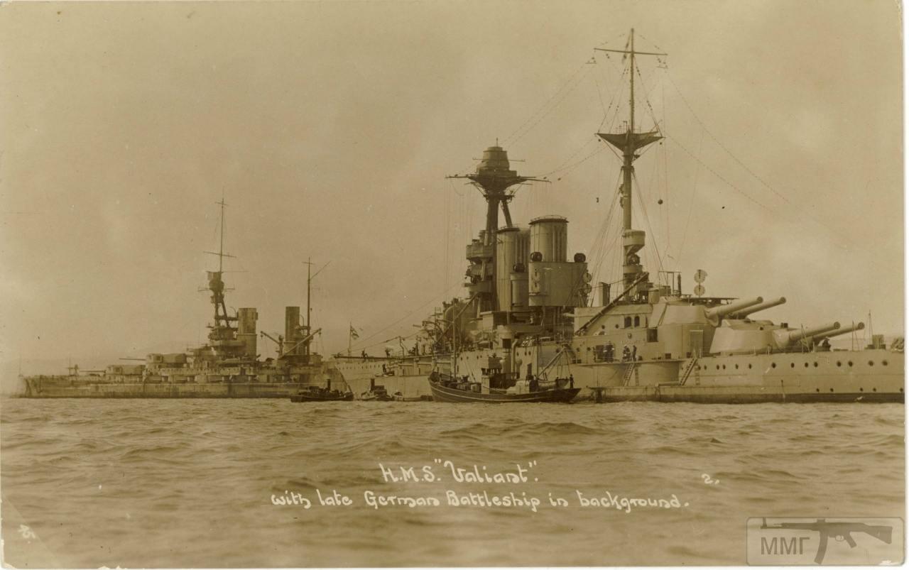 34834 - HMS Valiant в Скапа-Флоу. На заднем плане SMS Baden