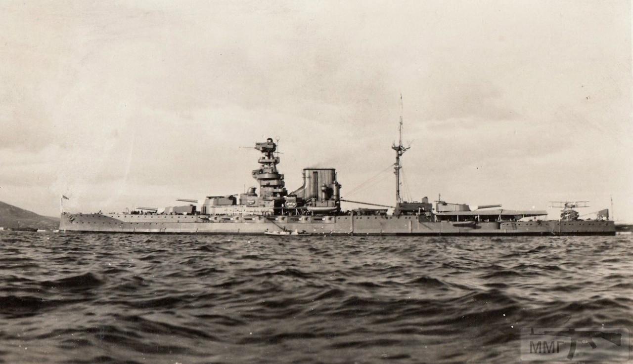 34835 - HMS Valiant после первой модернизации 1929-1930 гг.