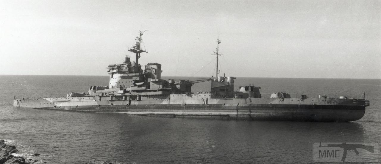 34837 - HMS Warspite на мели возле побережья Корнуолла