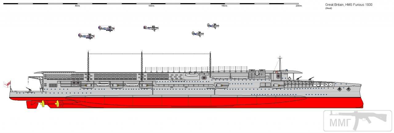 35306 - HMS Furious: внешний вид в 1930 году