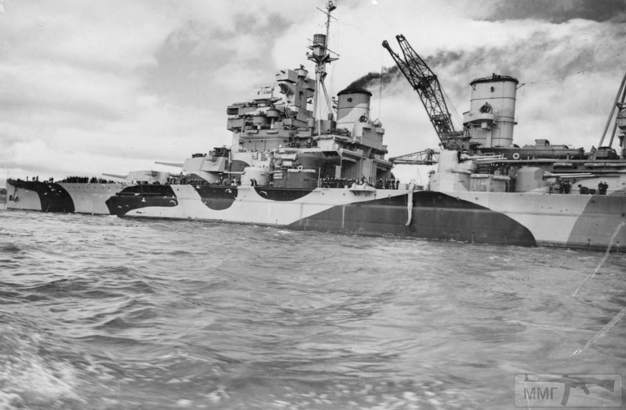 35375 - HMS Howe в Глазго, июль 1942 г.