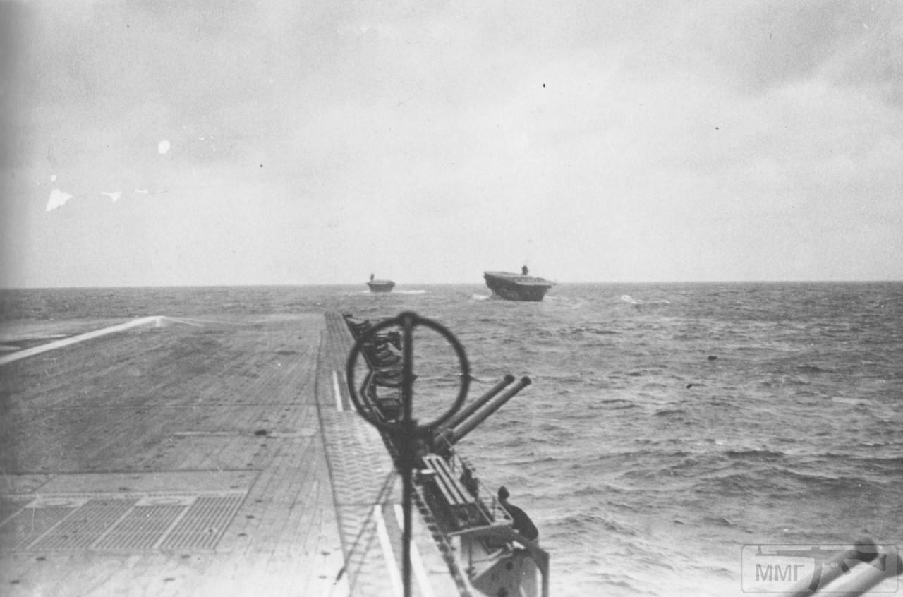 35526 - Авианосцы Zuikaku (на переднем плане), Kaga и Akagi в бухте Хитокаппу, Итуруп, ноябрь 1941 г.