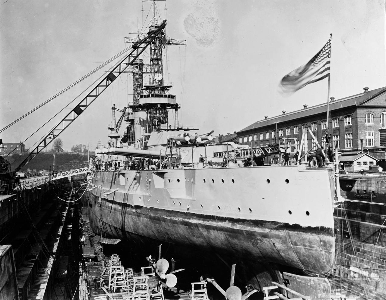 36020 - USS Idaho (BB-42) в доке Puget Sound Naval Shipyard, 8 марта 1926 г.