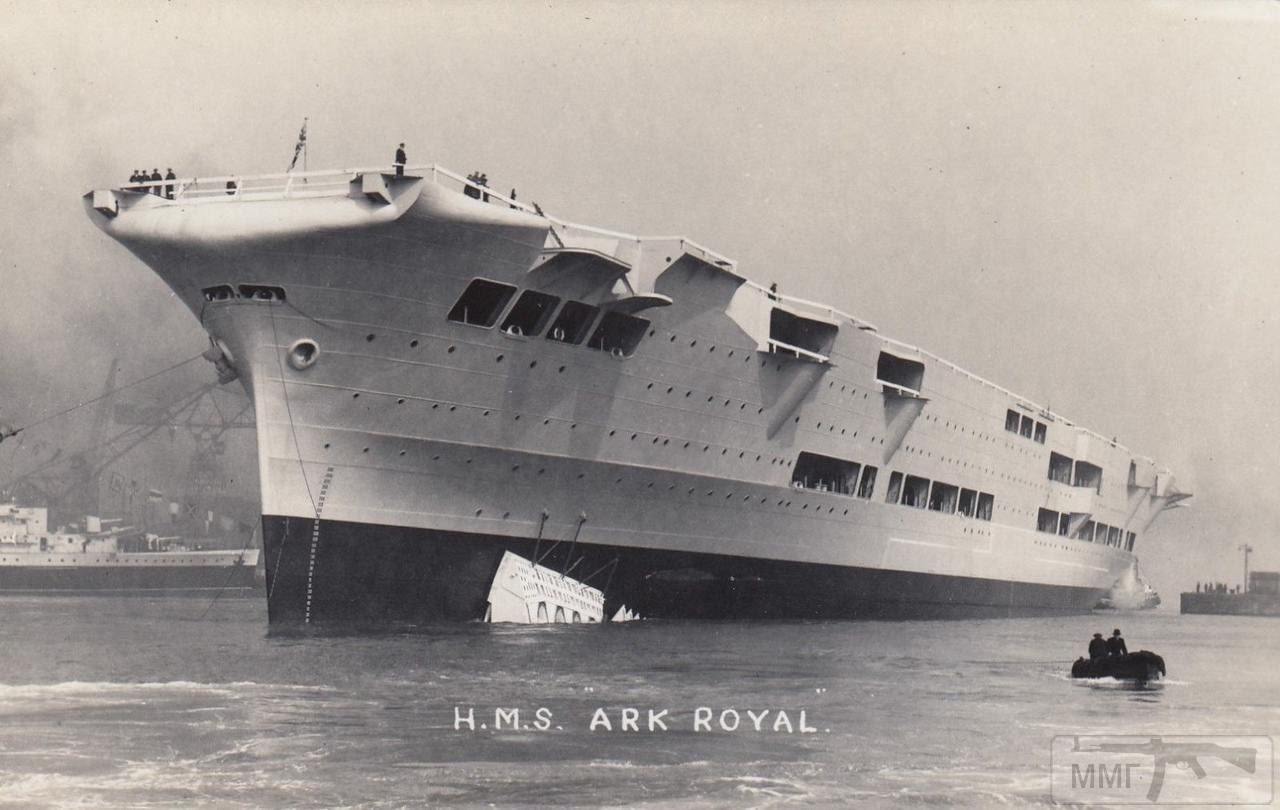 36149 - HMS Ark Royal после спуска на воду 13 апреля 1937 г.