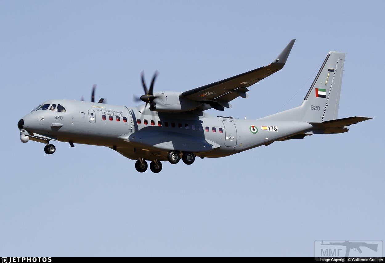 """36754 - Первый военно-транспортный самолет Airbus C295W, построенный для ВВС Объединенных Арабских Эмиратов (Абу Даби) (серийный номер S-178, эмиратский бортовой номер """"820""""). Севилья (Испания), 02.10.2018"""