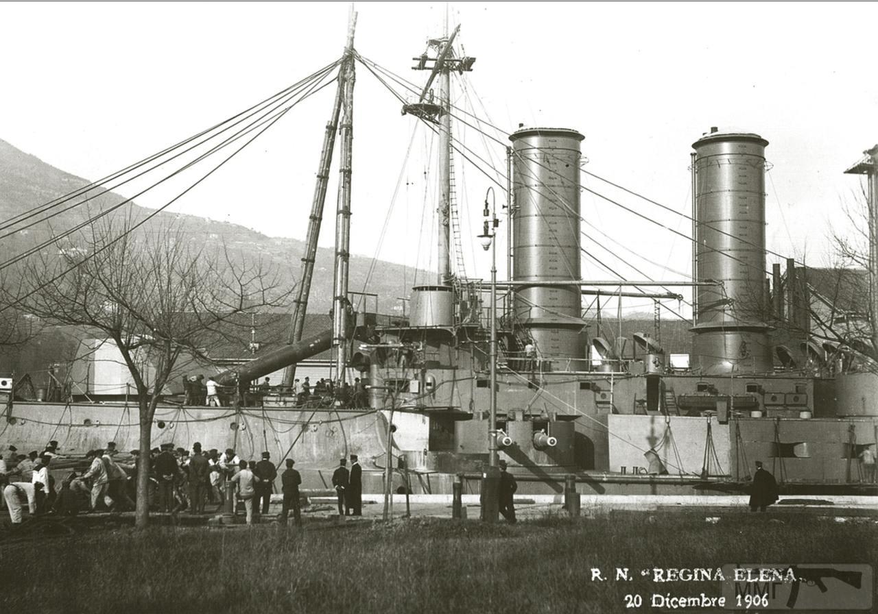 37958 - Броненосец Regina Elena в достройке, 20 декабря 1906 г.