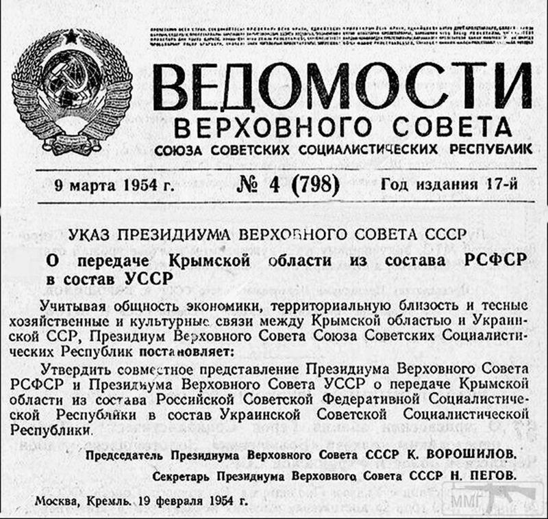 38386 - Передача Крымской области в состав УССР