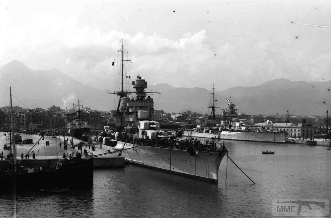 39755 - Тяжелые крейсера Zara и Fiume в Палермо, 1938 г.