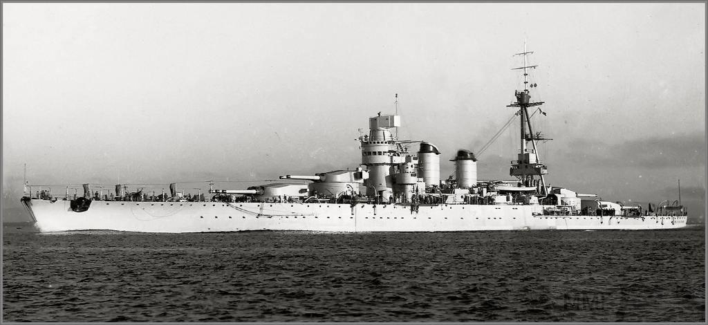 """4009 - Italian battleship Giulio Cesare - в будущем трагически известный """"Новороссийск"""""""