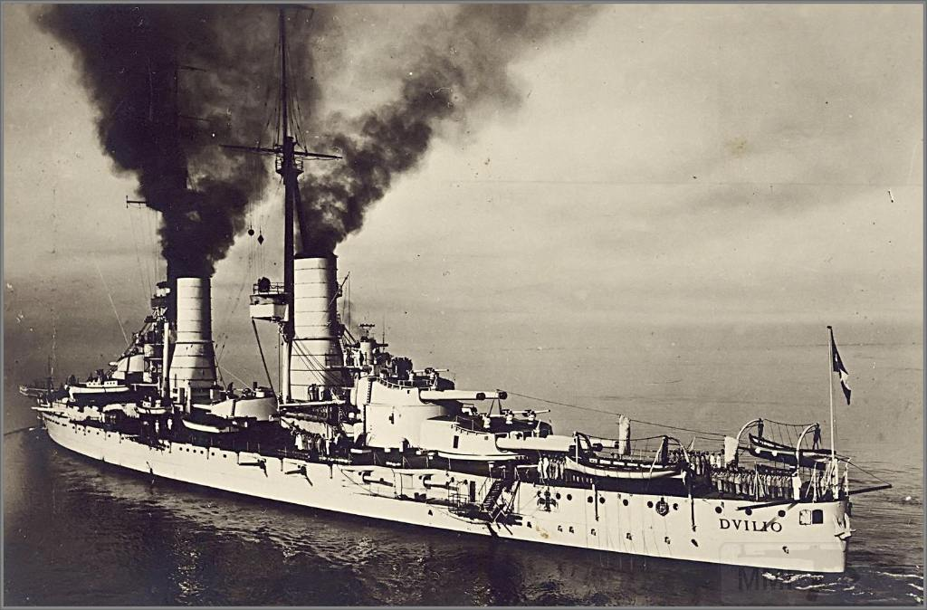 4013 - Italian battleship Caio Duilio, February 5th 1931