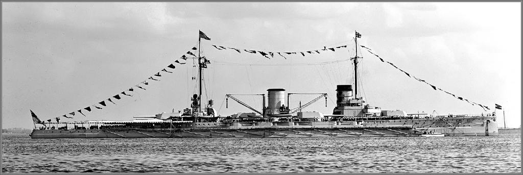 4015 - German battlecruiser SMS Moltke at Hampton Roads, Virginia, June 3rd 1912