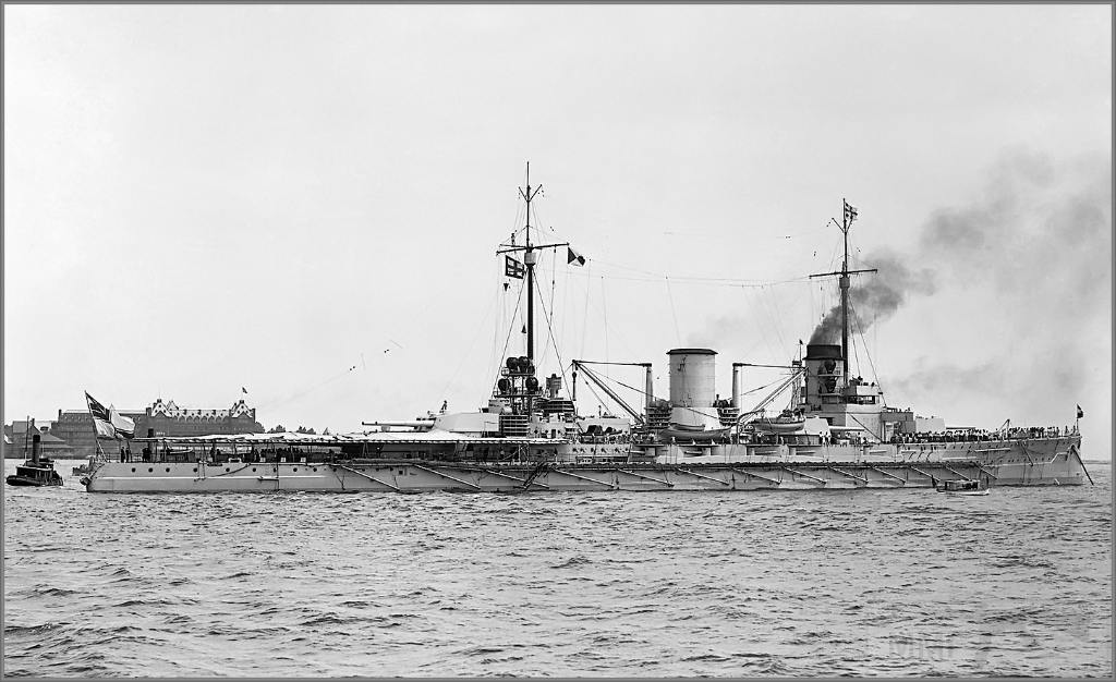 4017 - German battlecruiser SMS Moltke at Hampton Roads, Virginia, June 1912