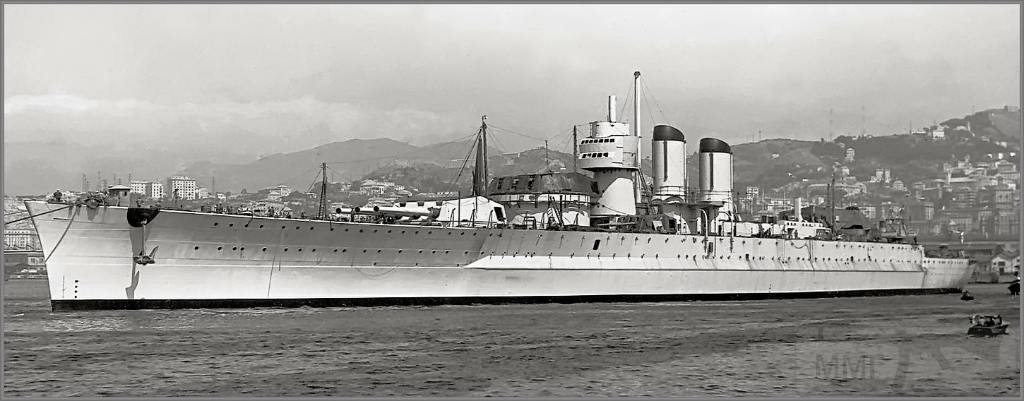 4034 - Unfinished Italian battleship Littorio, Genoa, December 1938