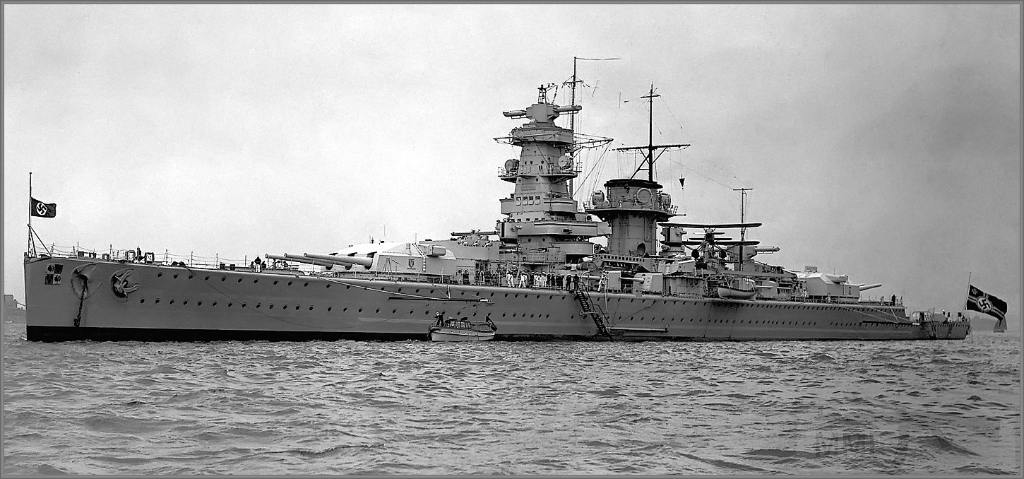 4035 - German heavy cruiser/pocket battleship Admiral Graf Spee, Spithead, May 1937