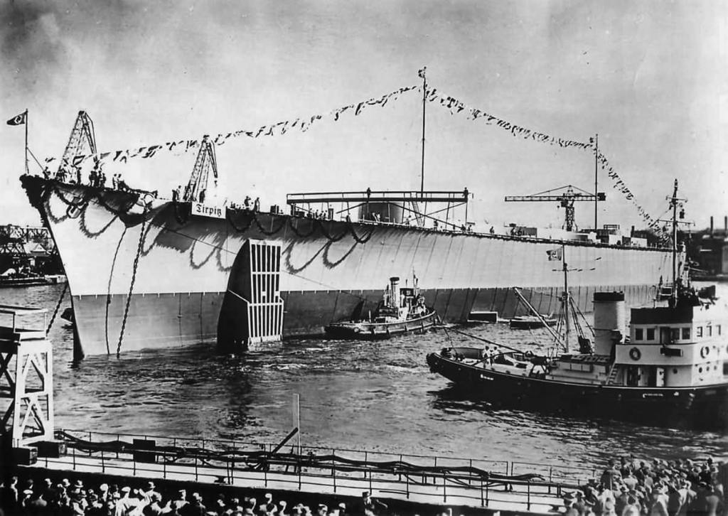 4116 - Launch of German battleship Tirpitz in april 1939
