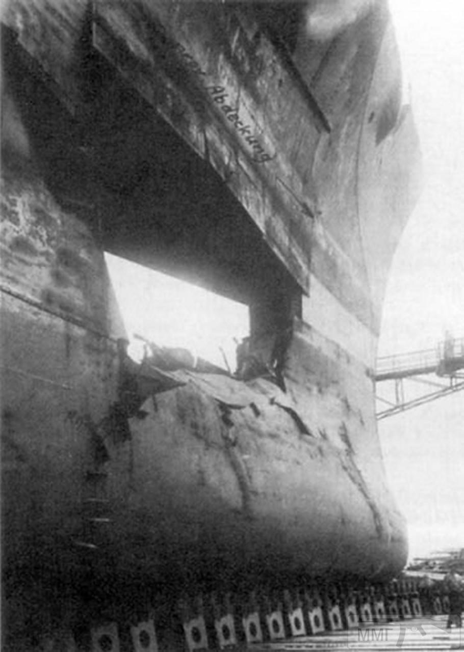 42219 - Линкор Gneisenau в доке после операции Juno