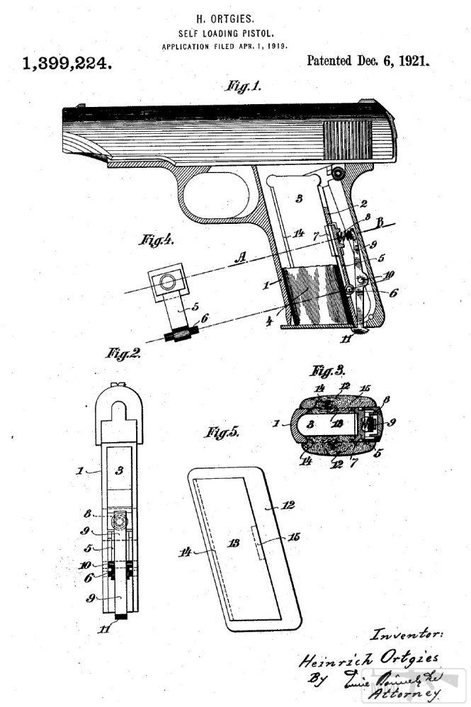 43898 - Пистолет Ортгис (Ortgies pistol).