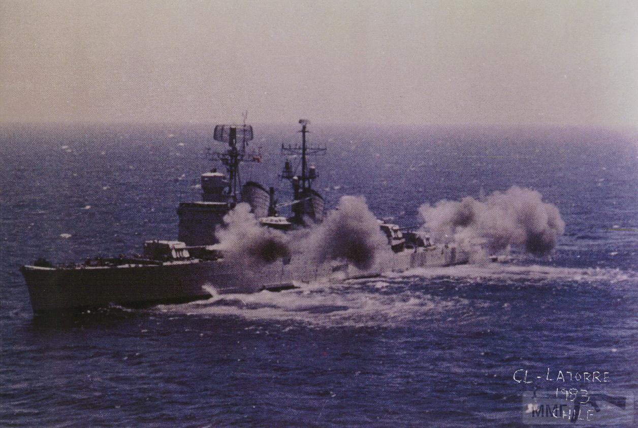 44748 - Легкий крейсер Almirante Latorre ВМС Чили, бывший шведский Gota Lejon