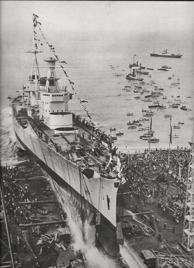 44750 - Тяжелый крейсер Bolzano, спуск на воду на верфи Ansaldo, Генуя, 31 августа 1932 г.