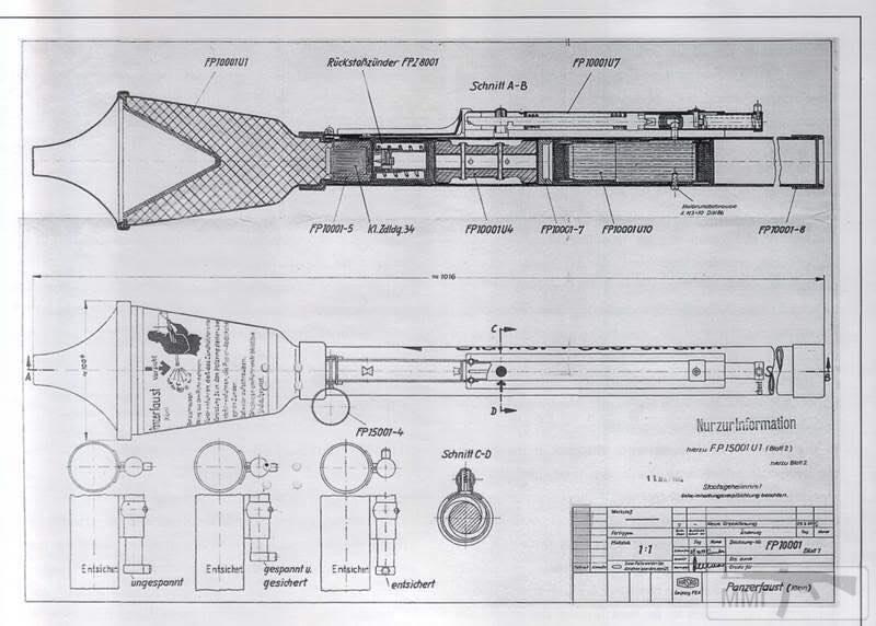 44942 - Ручной противотанковый гранатомет Panzerfaust (Faustpatrone)