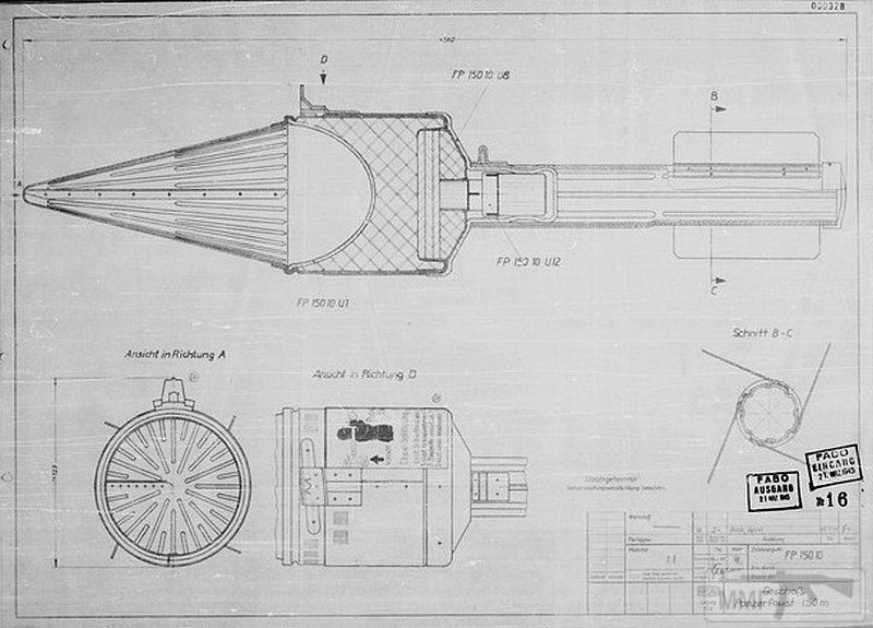 44945 - Ручной противотанковый гранатомет Panzerfaust (Faustpatrone)