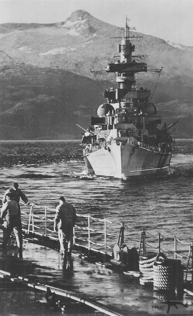45480 - Тяжелый крейсер Admiral Hipper, фото с линкора Tirpitz