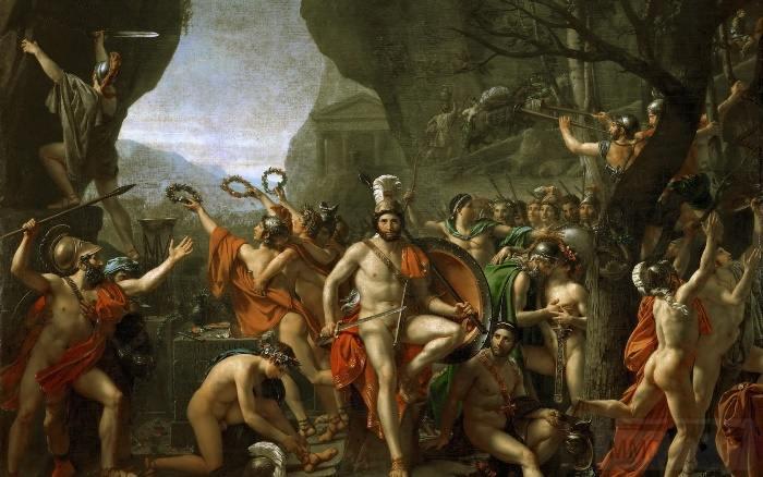4679 - Жак-Луи Давид. Битва при Фермопилах, 1814
