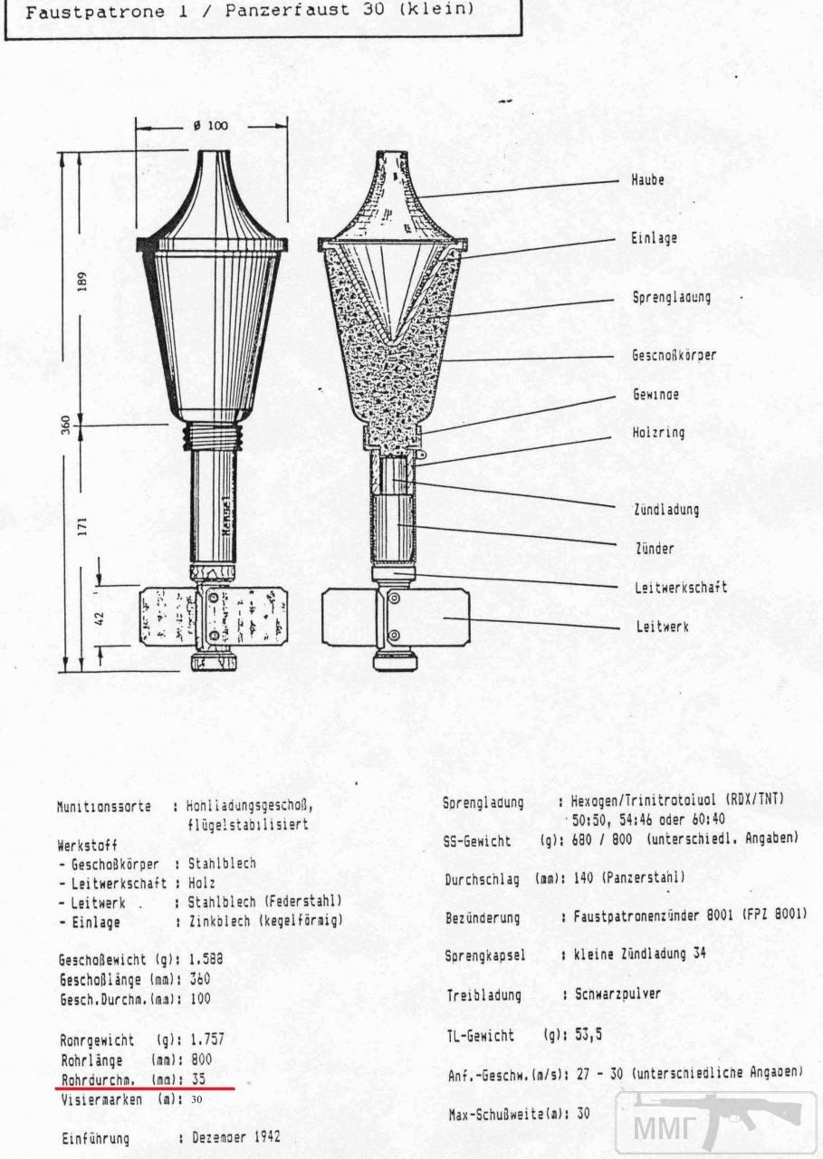 49241 - Ручной противотанковый гранатомет Panzerfaust (Faustpatrone)
