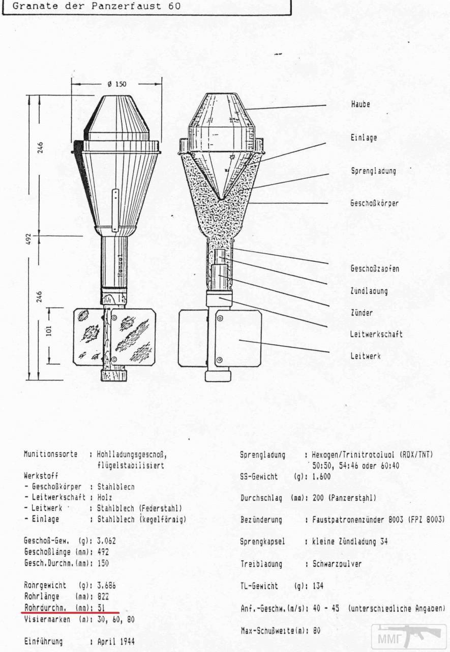 49243 - Ручной противотанковый гранатомет Panzerfaust (Faustpatrone)
