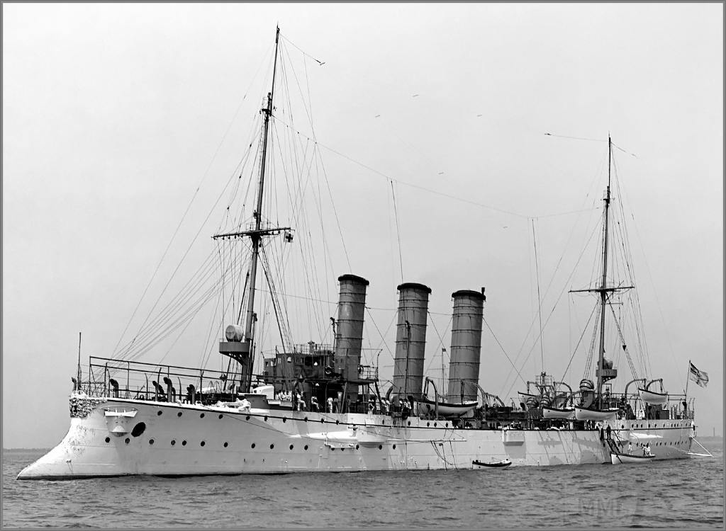4955 - German light cruiser SMS Bremen in 1907