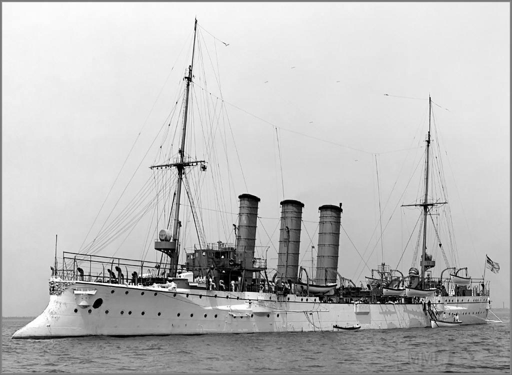 4955 - German light cruiser SMS Bremen in 1907