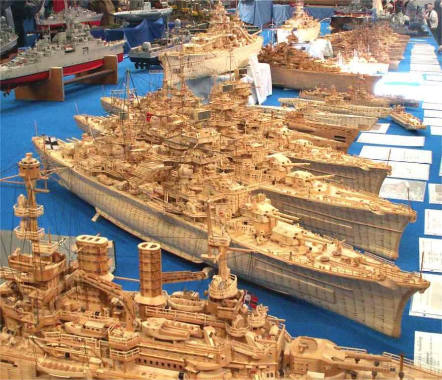 5225 - Экспозиция моделей кораблей, изготовленных из спичек
