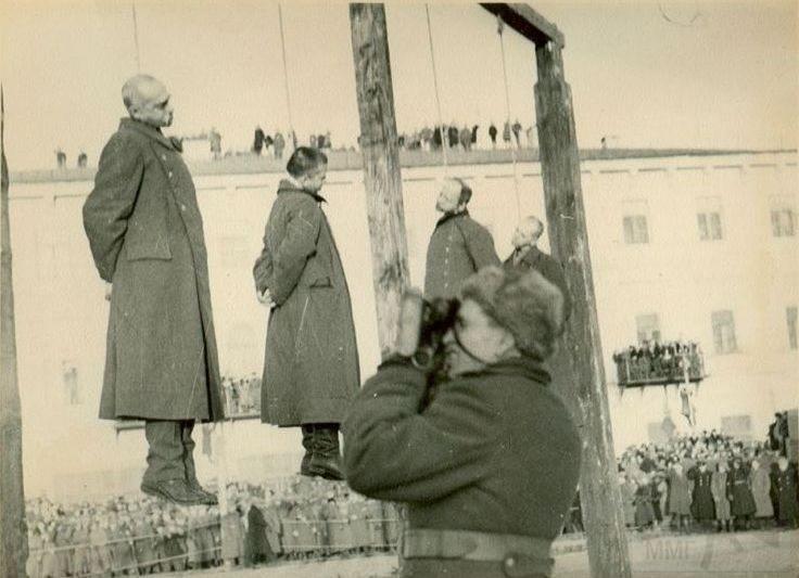 5466 - Казнь военных преступников: фашистов и их пособников 1943 — 1946 г.