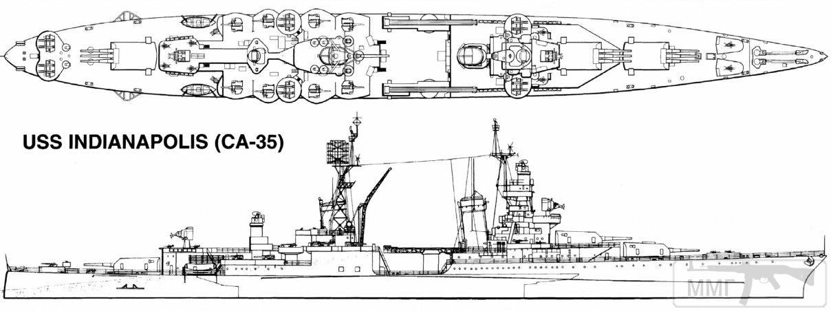 "55266 - Крейсер ""Индианаполис"""