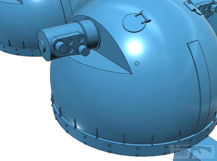 """58140 - """"Качающиеся горшки"""" систем управления огнем 105-мм установок."""