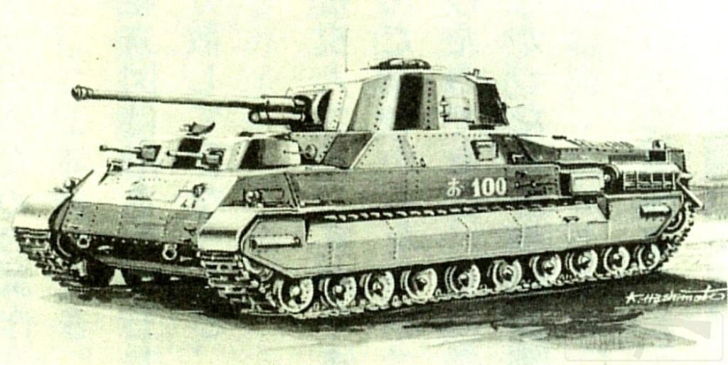 6078 - 100-тонный «танк полковника Ивакуро». На этом рисунке у него десять опорных катков