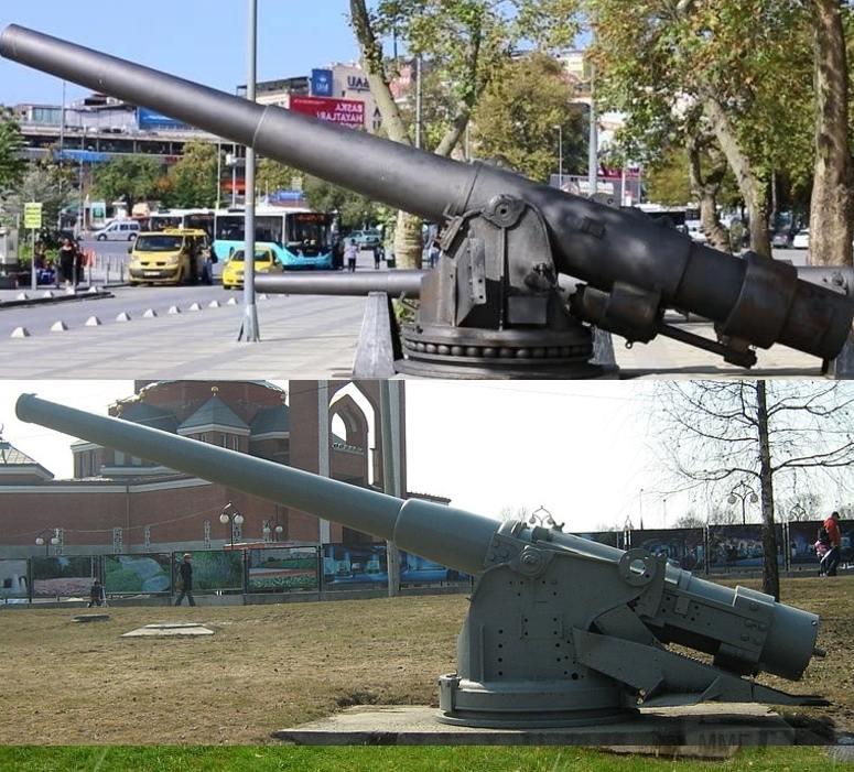 6334 - Корабельные пушки-монстры в музеях и во дворах...