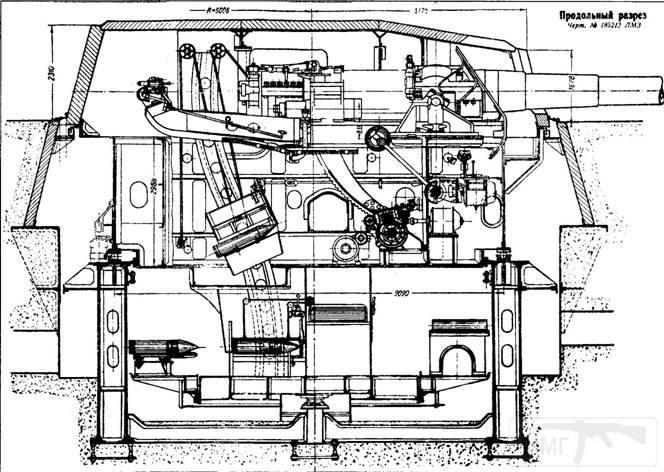 6572 - Схема двухорудийной башенной установки МБ-2-12