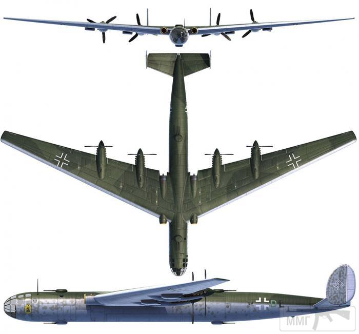 69299 - Me P.1085 с четырьмя толкающими двигателей и двумя реактивными, в корневой части крыла.