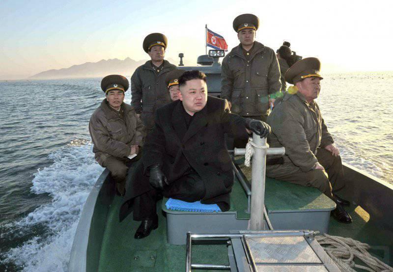 6952 - Ким Чен Ын направляется на остров Волнай в западном секторе Северной Кореи возле спорной морской границы с Южной Кореей.