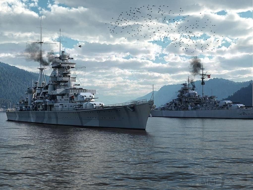 7469 - Prinz Eugen and Bismarck in Norway May 1941