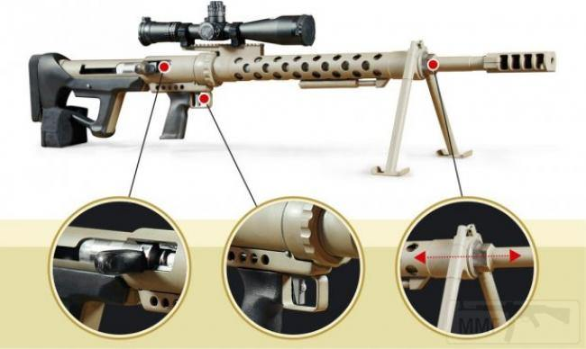 7584 - Крупнокалиберная снайперская винтовка Snipex Rhino Hunte