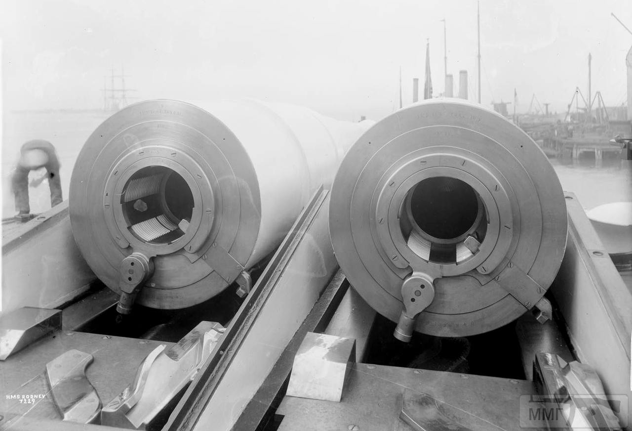 76946 - 343-мм/30 BL Mark I орудия броненосца HMS Rodney