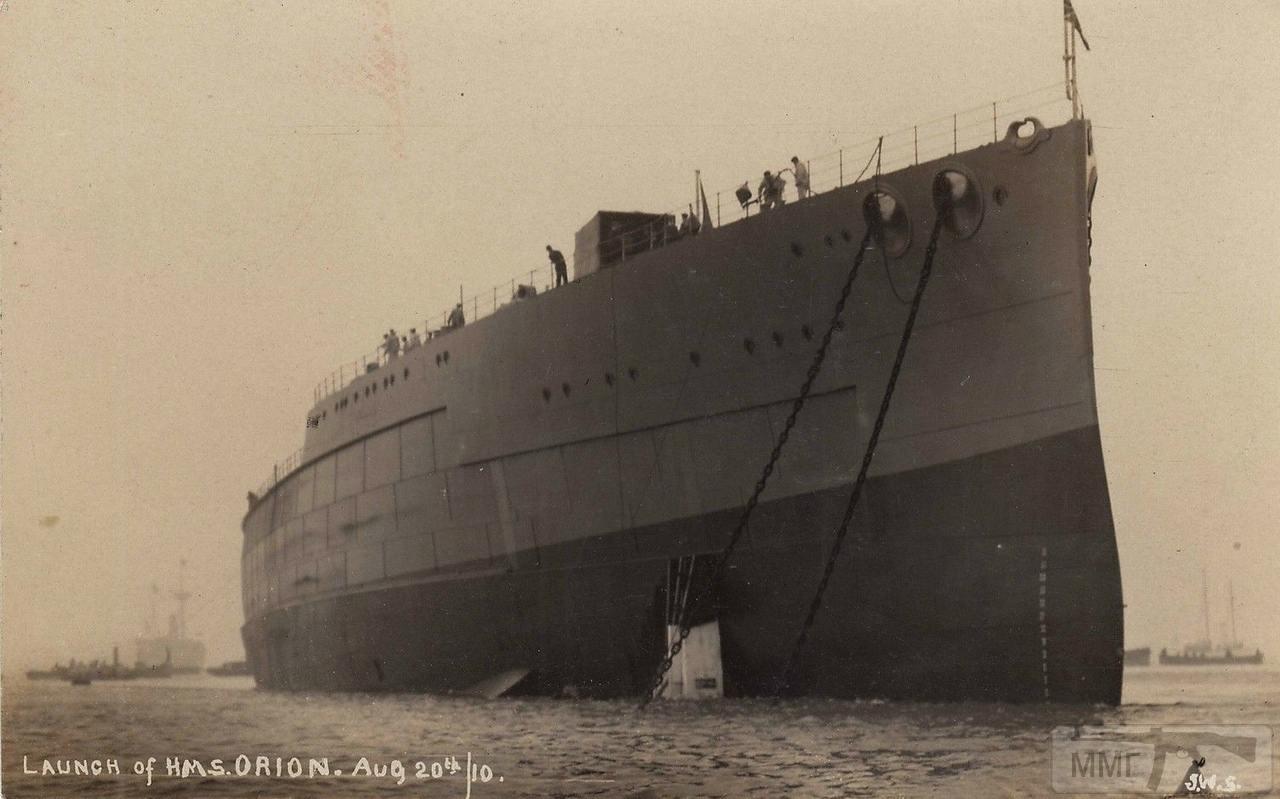 79735 - HMS Orion после спуска на воду, 1910 г.