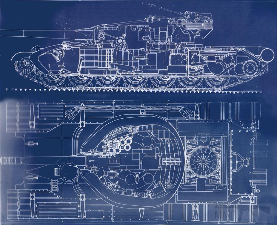 8092 - Компоновка Объекта 777 с двигателем воздушного охлаждения