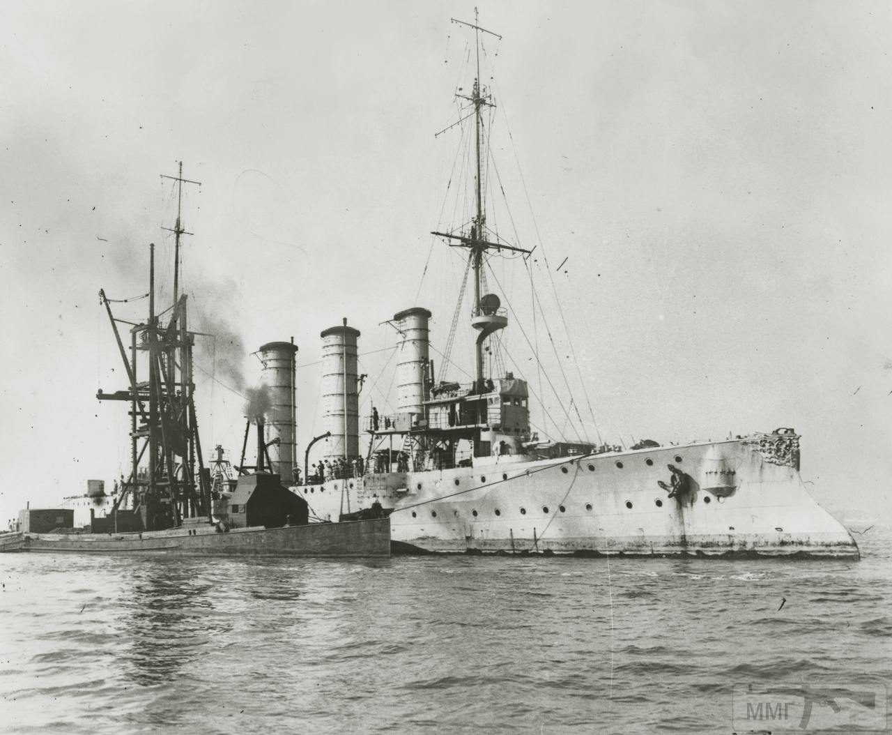 82084 - SMS Leipzig грузится углем в Сан-Франциско, 18 августа 1914 г.