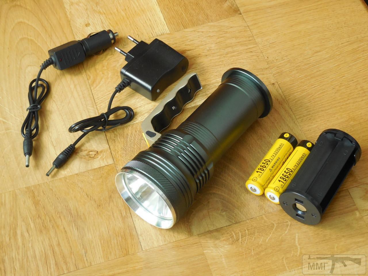 82484 - Дальнобойный Поисковый Фонарь на 2 аккумулятора Li-on 18650