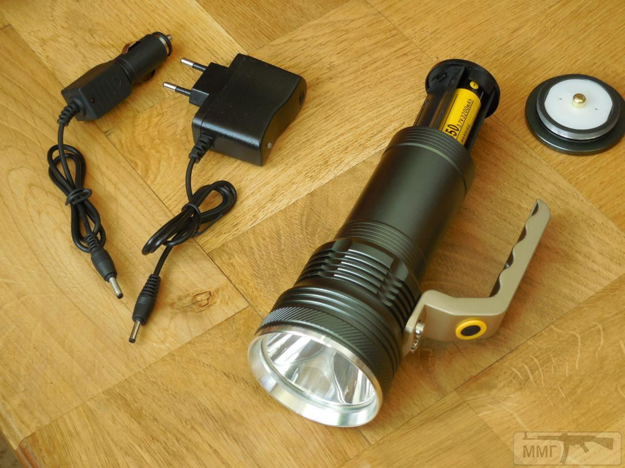 82485 - Дальнобойный Поисковый Фонарь на 2 аккумулятора Li-on 18650