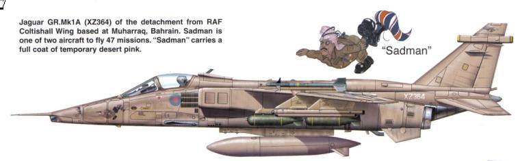 """8729 - Британские самолеты Jaguar GR-1A в операции """"Буря в пустыне"""" 1991 г."""